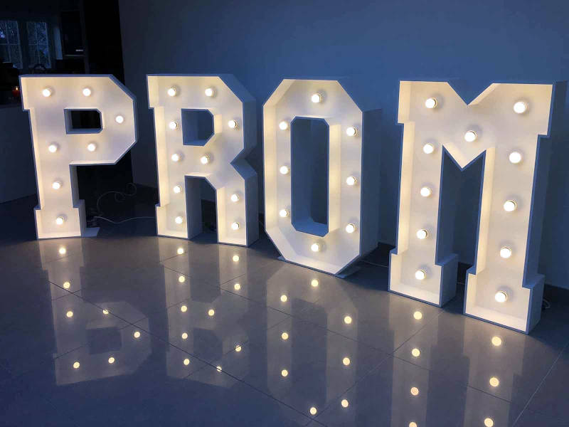 Prom LED Light Up Letters and Numbers